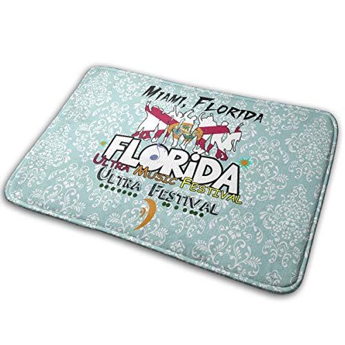 OLOSARO Doormat Indoor Florida Music Festival Home Kitchen Bathroom Outdoor Entrance Non-Slip Novelty Cute Funny 23.6