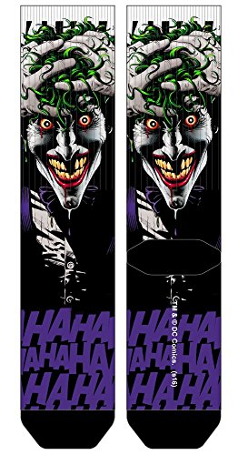 82e48d3c900b Joker Killing Joke Batman Premium Sublimated Crew Socks DC Comics, Sock Size:  10-