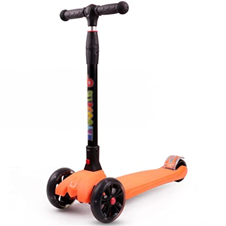 Triciclos 4 Ruedas Niños Scooter Niño Flash One-click Pedal Plegable Monopatín de juguete (