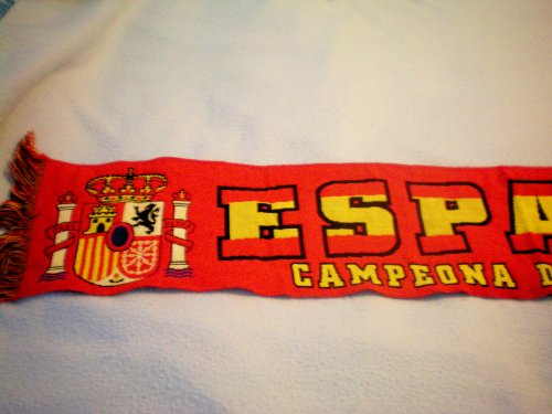 "ESPANA Campeona Del Mundo 2010 Sudafrica ... Scarf ... 8.5"" x 55"""