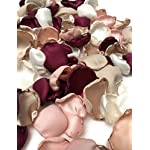 Maroon-blush-pink-ivory-and-champagne-mix-of-25-flower-petals-wedding-decor-rose-petals-artificial-flower-petals