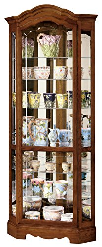 Howard Miller 680-250 Jamestown II Curio (Oak Traditional Curio Cabinets)