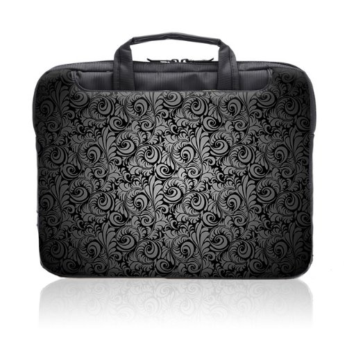 TaylorHe 15.6 inch 15 inch 16 inch Hard Wearing Nylon Laptop Carry Case Colourful Laptop Shoulder Bag with Patterns, Side Pockets Handles and Detachable Strap Vintage Paisley Patterns by 15'6 inch TaylorHe Nylon Laptop Carry Cases (Image #2)