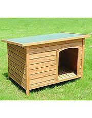 EUGAD Caseta de Madera Maciza para Perro Jaula Casa para Perro Gatos Conejo Cobaya Casa para