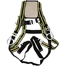 Miller DuraFlex Ultra Stretchable Full Body Safety Harness with Quick-Connect Buckles, Side D-Rings and Comfort-Touch Back D-Ring Pad, Universal Size-Large/XL, 400 lb. Capacity (E650QC-7/UGN)