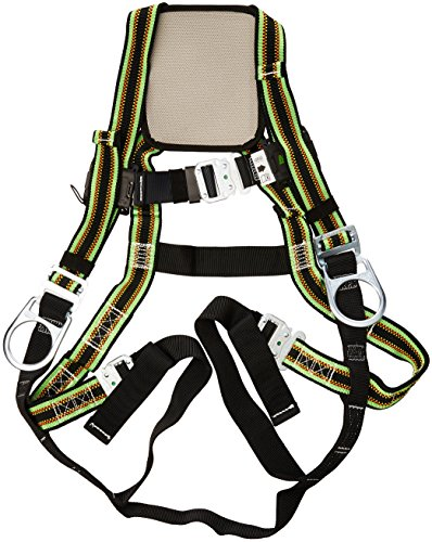 Chest D-rings - Miller DuraFlex Ultra Stretchable Full Body Safety Harness with Quick-Connect Buckles, Side D-Rings and Comfort-Touch Back D-Ring Pad, Universal Size-Large/XL, 400 lb. Capacity (E650QC-7/UGN)