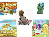 Children's Gift Bundle - Ages 3-5 [5 Piece] - Shrek Forever After Memory Game - Sky High Hopper Garden Starter Set - Ty Beanie Baby - Chipper the Chipmunk - Simba and Nala At Play: A Book About Oppo