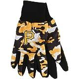 MLB Pittsburgh Pirates Camouflage Utility Gloves, Black