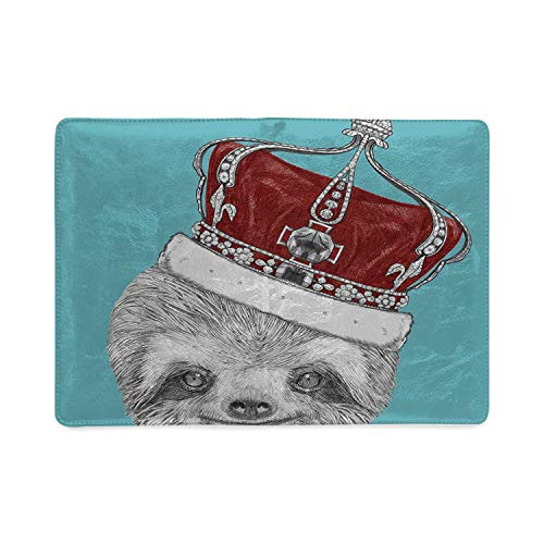 (Sloth Utility Notebooks,Cute Hand Drawn Animal with Imperial Ancient Crown King of Laziness Theme Decorative for Work,8.26