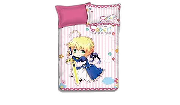 New Fate Saber Stay Night Sheet Bedspread Bed Cover Coverlet Quilt Cover Anime