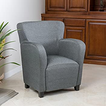 Amazon Com Christopher Knight Home Angelo Arm Chair Grey