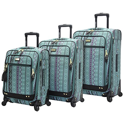 Steve Madden Designer Luggage Collection – 3 Piece Softside Expandable Lightweight Spinner Suitcase Set – Travel Set…