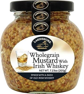 Lakeshore Whole Grain Irish Mustard with Irish Whiskey 7.2 oz Jar from Lakeshore