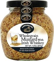 Lakeshore Whole Grain Irish Mustard with Irish Whiskey 7.2 oz Jar