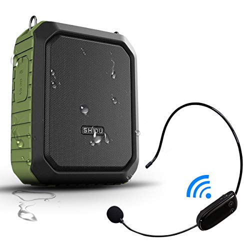 - Voice Amplifier Wireless Headset Microphone IPX5 Waterproof Bluetooth Mini Pa Speaker 18W 4400mAh Rechargeable Portable Waistband Voice Amplifier for Teachers Trainers Karaoke or Outdoors