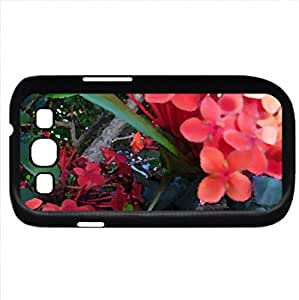 Orange flower (Flowers Series) Watercolor style - Case Cover For Samsung Galaxy S3 i9300 (Black)