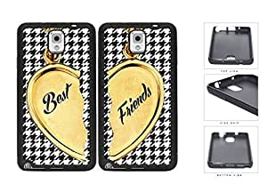 Heart Locket Houndstooth Best Friends Set Rubber Silicone TPU Cell Phone Case Samsung Galaxy Note 3 III N9000 N9002 N9005