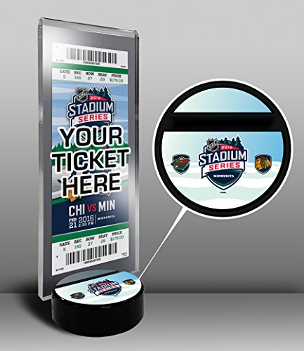 2016 NHL Stadium Series Hockey Puck Base Ticket Stand - Blackhawks vs (Ticket Base)