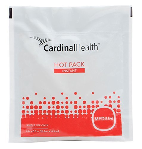 Cardinal Health 11450-040 Instant Heat Therapy Pack, Disposable, 6 x 6.5 in., Medium, Pack of 10