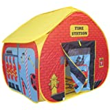 POP UP Pop It Up Childrens Play Tent with a Unique Printed Play Floor Toy Play Tent/ Playhouse/ Den for Boys
