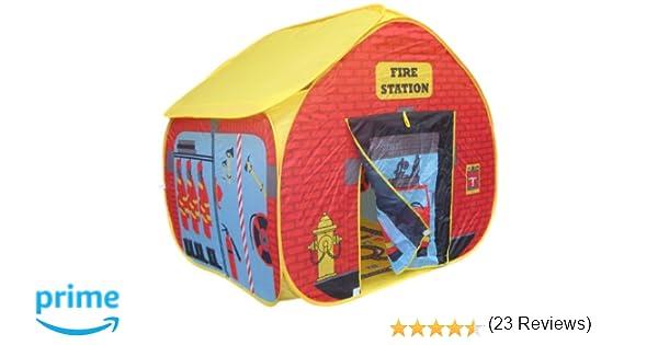 Pop It Up - Tienda plegable para jugar, diseño estación de bomberos: Amazon.es: Juguetes y juegos