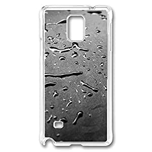 VUTTOO Rugged Samsung Galaxy Note 4 Case, Drops Texture Customize Hard Back Case for Samsung Galaxy Note 4 N9100 PC Transparent