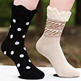 Dubai-star luxury hotel exclusively for women 2014 new pure cotton socks thick warm socks dot lace socks
