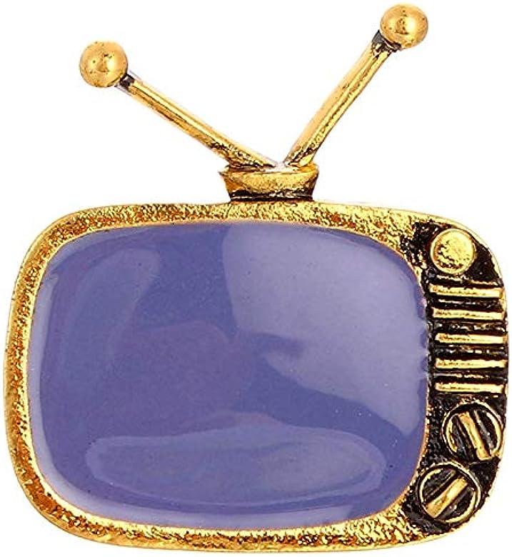 RQZQ Broche Broche clásico con Forma de televisor de televisión ...