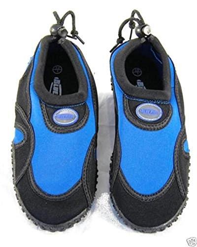Blue Rush - Zapatillas femeninas para el agua - negro y azul real