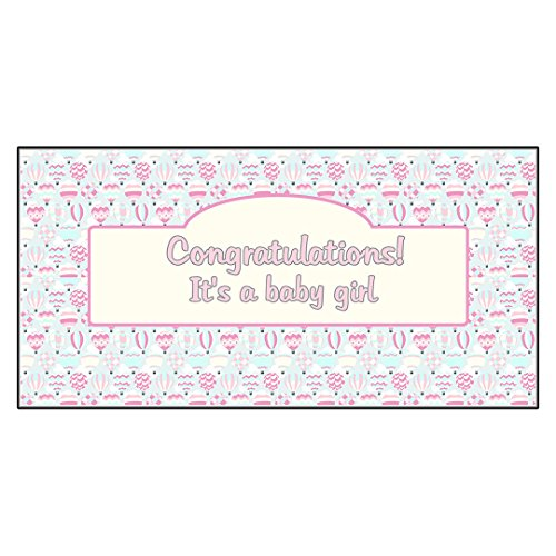 Baby Shower Birth It'S A Baby Girl Baloons DECAL STICKER Retail Store Sign for $<!---->