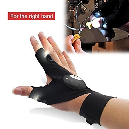 UMFun Night Fishing Glove with LED Light Rescue Tools Glove Outdoor Gear (Right) ()