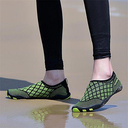 Hinzer Vatten Skor För Män Kvinnor Snabbtorkande Aqua Skor B-gröna