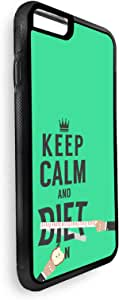 keep Calm & diet Printed Case for iPhone 7