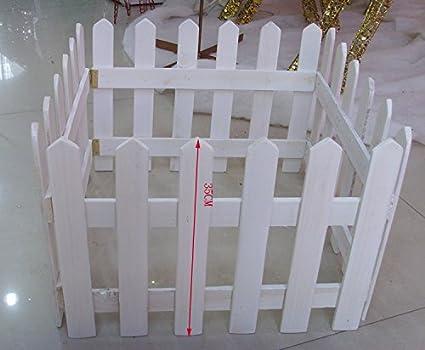 Christmas Tree Fence Long Wool 140cm 30cm Fence Wood Fence White