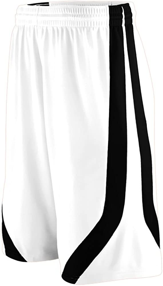 White and Black Adult Triple-Double Game Short Small