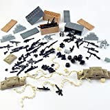 Custom Military Army Weapons and Accessories Set Compatible Major Brands ,Minifigure Accessories - Hats, Weapons, Tools, Modern Assault Pack Military Building Blocks Toy