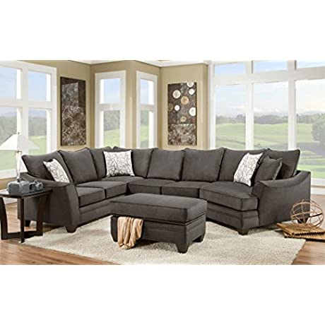Sectional Set In Flannel Seal 574030