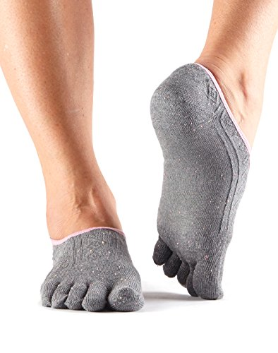 ToeSox Women's Casual Dash Socks (Pepper) Small