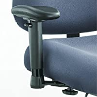 Safco Products 3591BL Adjustable T-Pad Arm Set for use with Optimus Big & Tall Chairs, sold separately, Black