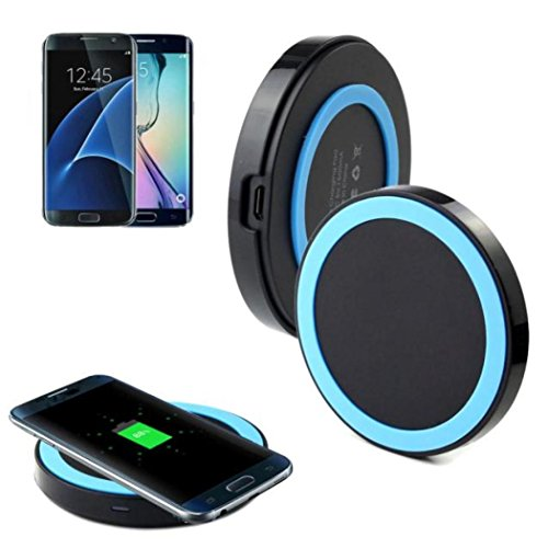 Price comparison product image Galaxy S7/S7 Edge Wireless Charger, HP95(TM)Qi Wireless Power Charger Charging Pad for Samsung Galaxy S7/S7 Edge (Blue)
