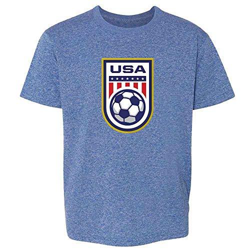 - USA Soccer Team National Crest Girls or Boys Heather Royal Blue 2T Toddler Kids T-Shirt