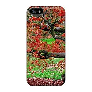 Hot Tpu Cover Case For Iphone/ 5/5s Case Cover Skin - Red Leaves In Autumn