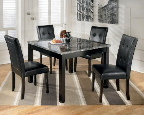 Ashley D154-225 Maysville Black Square Dining Room Table Set