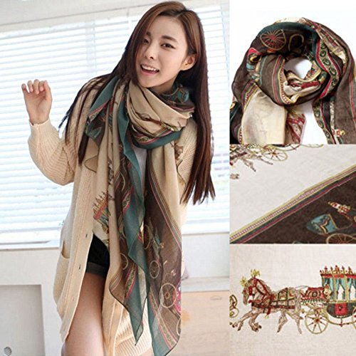New Fashion Women Lady Girls Soft Long Carriage Scarf Large Wrap Shawl - Vintage Sunglasses Chanel