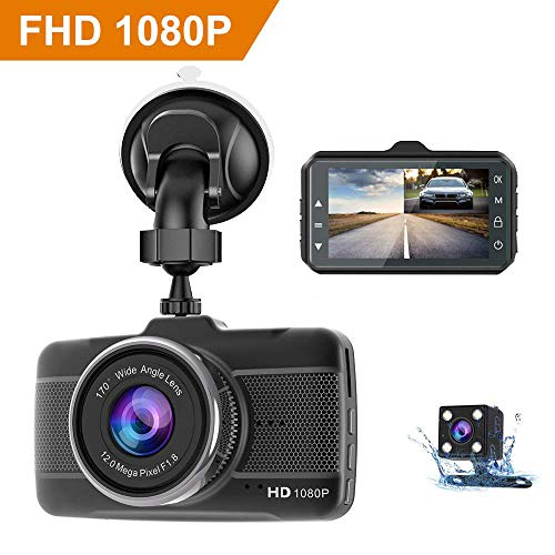 Dash Cam 1080P Full HD with Sony Sensor Carigogo Car Camera DVR Dashboard Camera Video Recorder Dashcam 3.2 LCD Display Night Vision Motion Detection G-Sensor WDR Parking Monitor