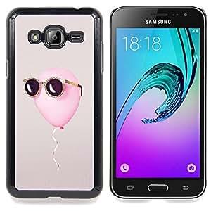 GIFT CHOICE / Teléfono Estuche protector Duro Cáscara Funda Cubierta Caso / Hard Case for Samsung Galaxy J3 GSM-J300 // balloon freedom summer sun cool grey //