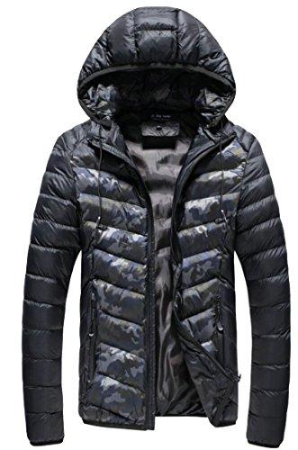 Long Hooded Sleeve Down Black Packable Puffer Men's amp;S Jacket amp;W M qHTytWZ1y