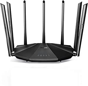 Tenda AC23 Smart WiFi Router - Dual Band Gigabit Wireless (up to 2033 Mbps) Internet Router for Home, 4X4 MU-MIMO Technology, Up to 1400 sq ft Coverage Parental Control Compatible with Alexa (AC2100)