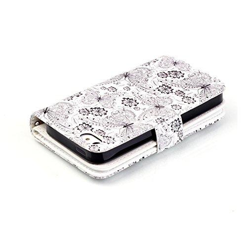 Apple Para piel 11 Executive Diseño cover Smartphone Polvo Conector cartera funda funda funda Tarjetero se 3 blanco Iphone 5 nbsp;5S Flip piel SS5wr
