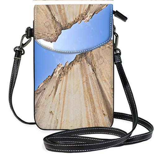 Multicolor Shoulder Messenger Bag Phone Purse Tuff Ash Cliff Valles Caldera Bandelier National Monument New Mexico Casual, Lightweight Multi Pockets Crossbody Bag ()